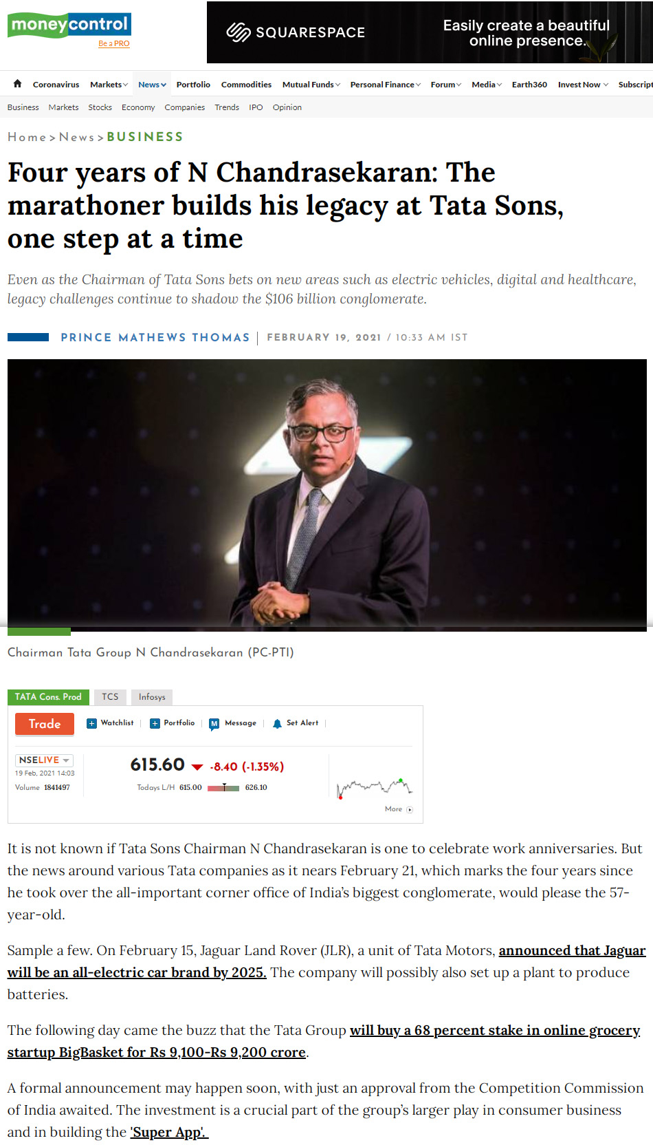 Four years of N Chandrasekaran: The marathoner builds his legacy at Tata Sons, one step at a time